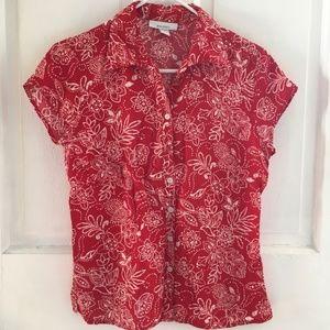WOMEN'S Dressbarn Button-up Collared Shirt SIZE S